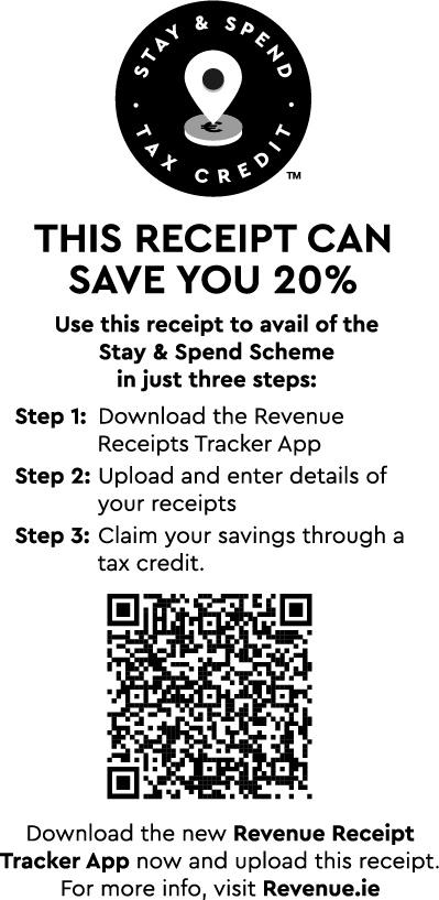 stay spend receipt